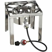 Gas Stove Propane Burner Stainless Steel Fryer Stand Outdoor Camping Cooker NEW