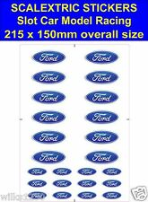 Slot car / Scalextric stickers Model Race FORD Logo Lego self adhesive vinyl