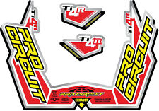 PRO CIRCUIT TI-4R STICKER KIT REPLACEMENT MUFFLER STICKERS