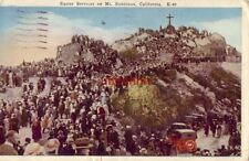 crowd of worshippers EASTER SERVICES on MT. RUBIDOUX, CA 1927