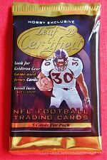 1999 Leaf Certified Football PACK Gridiron Gear ? Fabric of the Game ? Gold +?