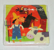 BARNYARD FARM EIEIO  16-PAPER LUNCH NAPKINS  BIRTHDAY-CHILD   PARTY SUPPLIES