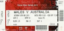 Wales v Australia 30 Nov 2013 RUGBY TICKET