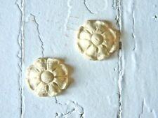 ROSETTE FURNITURE APPLIQUES SET OF 4-STAINABLE-PAINTABLE-$5.95 NO LIMIT SHIPPING