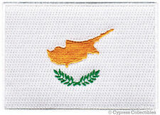 CYPRUS NATIONAL FLAG PATCH CYPRIOT iron-on EMBROIDERED SOUVENIR APPLIQUE