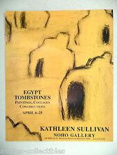 Kathleen Sullivan Art Gallery Exhibit PRINT AD - 1993 ~~ Egypt Tombstones