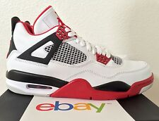 2012 DS Air Jordan Retro 4 IV Fire Red SIze 8.5 black cement white iii 3 new v