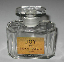 "Vintage Jean Patou Joy Perfume Bottle 1 OZ Baccarat - Open - Empty - 2 1/4"" - #2"