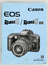 CANON EOS REBEL G/REBEL G QD INSTRUCTION MANUAL