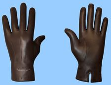 NEW MENS size 8 CASHMERE LINED GENUINE BROWN KID LEATHER GLOVES