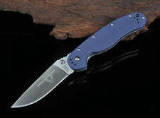Ontario RAT Model 1 blue G10 handle AUS-8 steel blade tactical folding knife