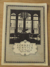 """1923 Booklet~""""CORRECT SERVICE for the Formal and Informal TABLE""""~ONEIDA Wares~"""
