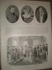 Photo article the late Prince Alfred of Saxe-Coburg Gotha 1899