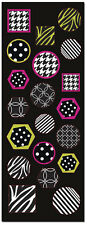 20 Black and White Pattern Colorful Stickers Wedding Invitation Seals