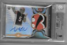 AJ McCarron autographed 2014 Topps Platinum Bengals LOGO rookie football card