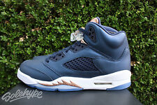 AIR JORDAN 5 RETRO V GS SZ 7 OBSIDIAN GRAPE WHITE METALLIC BRONZE 440888 416