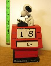 SNOOPY resin perpetual calendar Peanuts 1980s doghouse beagle writer dog Schulz