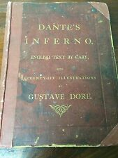 Dante The Vision of Hell Alighieri Vintage Antique 1800s 1866 Cary Gustave Dore