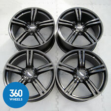 "GENUINE ASTON MARTIN DB9 19"" SPORT PACK 5 DOUBLE SPOKE SATIN BLACK ALLOY WHEELS"