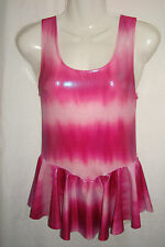 Pink Toned Spandex Dress. Suit Gymnastics. Twirling, ice skate size 14 yrs