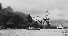 USS Arizona Pearl Harbour Hawaii 1941 World War 2 Navy, Reprint Photo 7x4 inch
