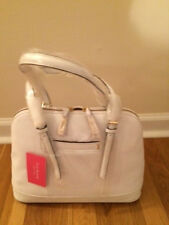 Isaac Mizrahi White Leather Satchel Handbag The Nora Collection Brand New