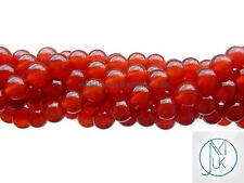 Carnelian Gemstone Round Beads 8mm Jewellery Making (47-50 Beads)