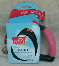 Wigzi Gel Retractable Leash For Large Dogs Up To 110 lbs. ~ NEW