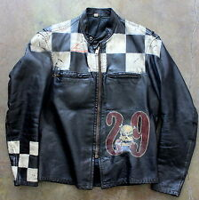 awesome THE GREAT CHINA WALL cafe racer LEATHER JACKET size 40