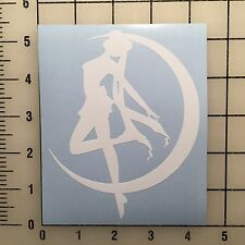 "Sailor Moon White 4"" Wide Vinyl Decal Sticker - BOGO"