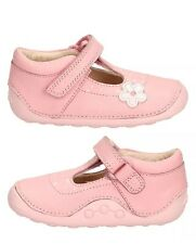 Clarks Girls Little Linzi Baby Pink Leather Strap First Shoe Cruisers 2H