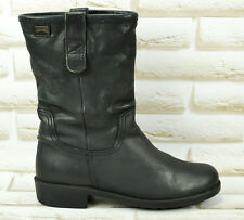 CAMPER Black Leather Womens Hi Ankle Mid Calf Boots Biker Shoes Size 3 UK 36 EU