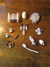 Star Wars  Mini Vehicles Lot RARE LGT - LFL 1995 Plus Accessories
