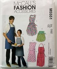 McCalls Sewing Pattern 5551 APRONS APRON Adult Misses Mens & Kids 4 Styles New