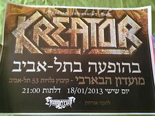 KREATOR LIVE IN ISRAEL POSTER 2013 !!!!!!