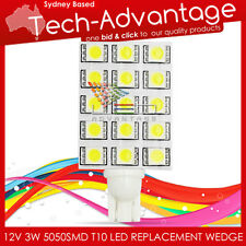 12V 3W 15x5050SMD JAYCO NARVA CARAVAN MARINE BOAT REPLACEMENT T10 LED WEDGE