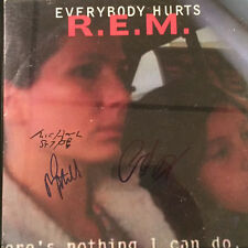 REM (All 3- Michael Stipe, Mike Mills & Peter Buck) Signed 'Everybody Hurts' LP