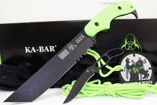 KA-BAR USA Zombie Famine Green Apocalypse Tanto Tactical Combat Knife Set