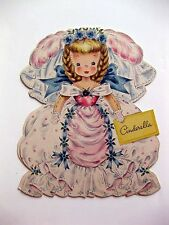1947 Hallmark Paper Doll Card Land of Make Believe Cinderella A