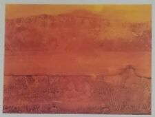 """Max Ernst 1975 Vintage Art Print Book Plate Lithograph """"Colorado River"""" Abstract"""