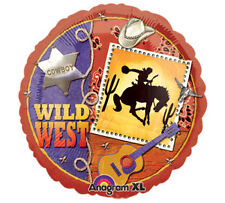 Western Cowboy WILD WEST Horse Bronco Country Birthday Mylar Party Balloon