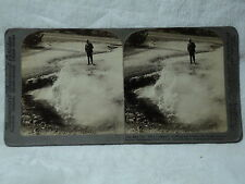 Underwood #6254 Yellowstone National Park The Devil's Inkwell 1904 Stereoview