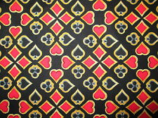 DECK OF CARDS PLAYING CARD SUITS GAMES CHANCE COTTON FABRIC BTHY