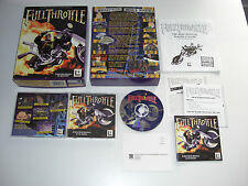 Full THROTTLE PC CD ROM LucasArts Original Caja Grande-Fast Secure Post