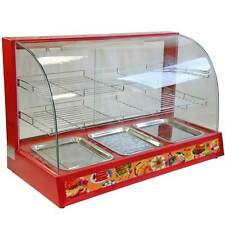 Hot Food Display Cabinet Counter Electric Pie Chicken Pasty Sausage Rolls 95cm