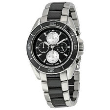 MICHAEL KORS CHRONOGRAPH JETMASTER CARBON FIBER WATCH MK8454 NWT MSRP $495