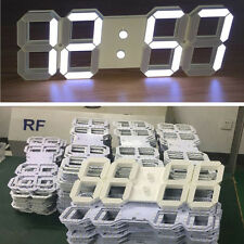 Remote Large Digit 3D LED Oversize Wall Clock Alarm Countdown Timer 12/24 Hour