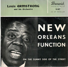 45T EP: Louis Armstrong: on the sunny side of the street. brunswick