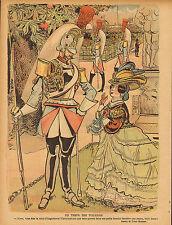 """Le Rire-stampa a colori da 1900 """"DU TEMPS DES TUILERIES"""""""