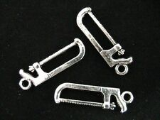 10 x 25mm Tibetan Silver Saw Tool Charms Jewellery Pendant E100